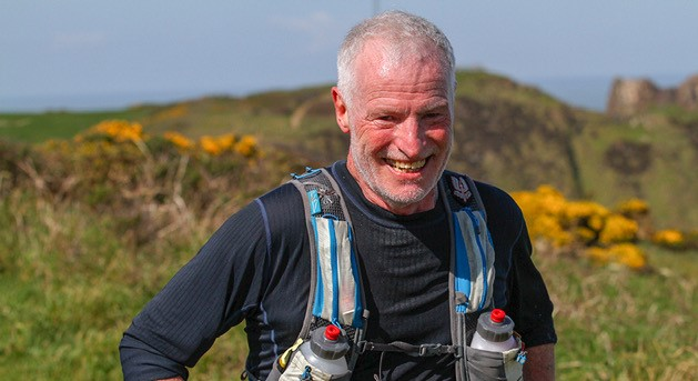 Andy Gillespie enjoying the Devon Coast Challenge