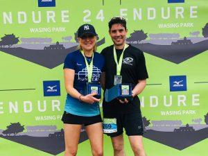 Emma Draper & Chris O'Brien were 3rd place Mixed Pair at Endure 24