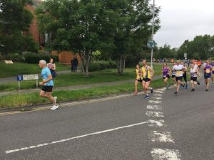 Ian White and Tamzin Petersen in the Poole Festival of Running 10k