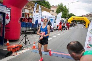 Jacek Cieluszecki in the Maraton Juranda at Szczytno, Poland
