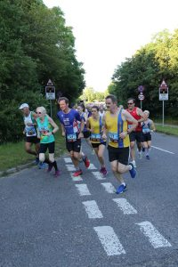 Richard Cannings and Tamzin Petersen in the Purbeck 10k