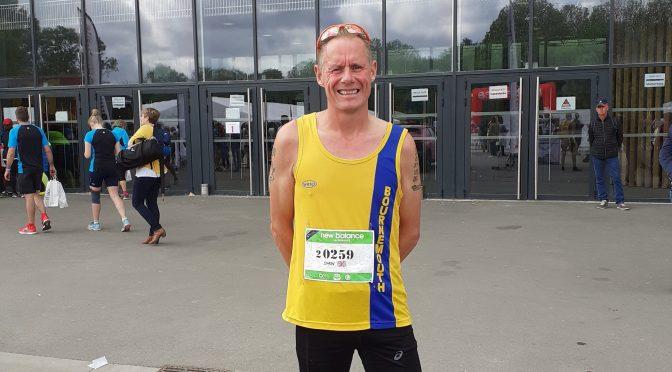 Simon Hearn at the Pegasus Half Marathon in Normandy