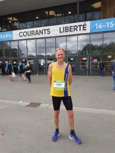 Simon Hearn prepares to take on the Pegasus Half Marathon in Normandy