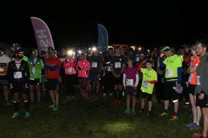 The start line of the Dark Ox Quarter Marathon
