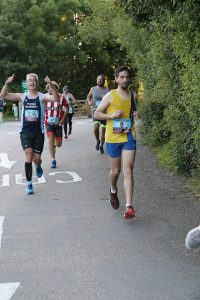 Steve Parsons finishing the Purbeck 10k