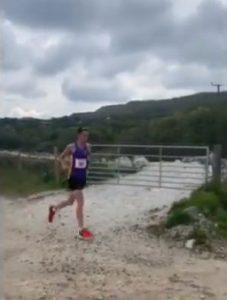 Stu Nicholas goes through in the Cornish Imerys Trail Marathon