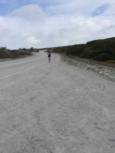 Stu Nicholas on the china clay of the Imerys Trail Marathon