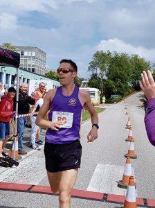 Stu Nicholas winning the Cornish Imerys Trail Marathon
