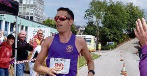 Stu Nicholas in the Cornish Imerys Trail Marathon