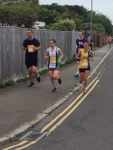 Tamzin Petersen in the Poole Festival of Running 10k
