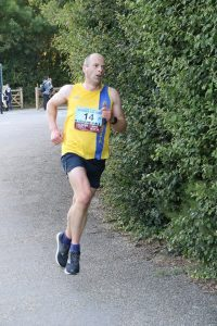 Alex Goulding finishing the Purbeck 10k