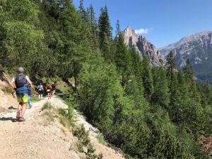 Heading along the Cortina Trail