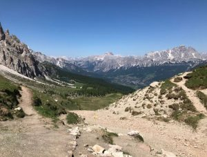 Lovely views from the Cortina Trail