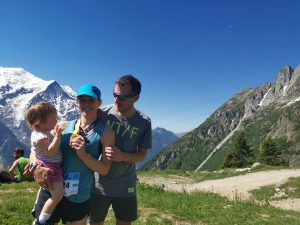 Georgia, Tom and Chloe at the Mont-Blanc 23k