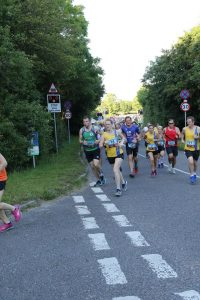 Katrina, Tamzin and Richard in the Purbeck 10k