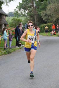 Kirsty Drewett in the Lulworth Castle 10k