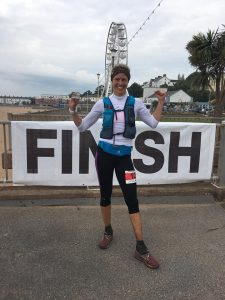 Linn Erixon Sahlstrom after the Jurassic Coast 100 Mile