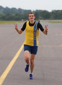 Mitch Griffiths enjoying the Southampton Airport Runway Run