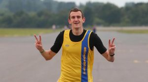 Mitch Griffiths takes on the Southampton Airport Runway Run