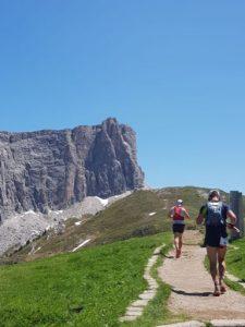 Ollie Stoten heads along the Cortina Trail