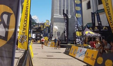 Ollie Stoten races to the finish in the Cortina Trail