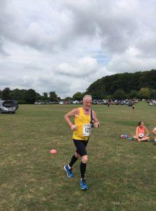 Andy Gillespie in the Sturminster Newton Half Marathon