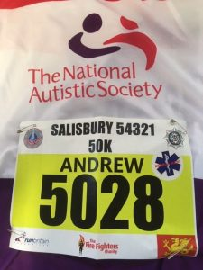 Andy Gillespie's number for the 54321 Salisbury 50k