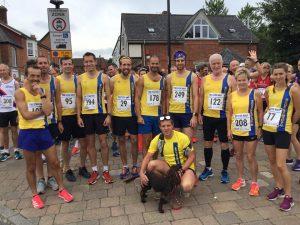 Bournemouth AC team for Sturminster Newton Half Marathon