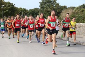 Front runners in the Round the Rock 10k