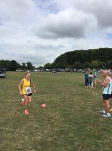 Helen Ambrosen in the Sturminster Newton Half Marathon