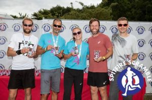Mixed 3 to 5 category winners at Spitfire Scramble