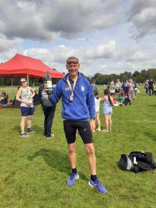 Simon hearn took the prize for 1st Vet in the London Summer 10k