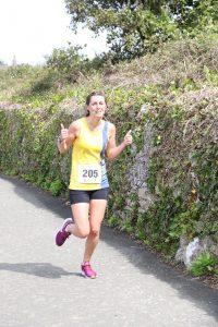 Tamzin Petersen in the Round the Rock 10k
