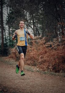 Chris Phelan-Heath in action at the New Forest Marathon 5k