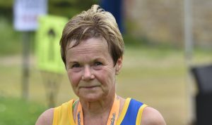 Helen Ambrosen in the New Forest Rattler Half Marathon