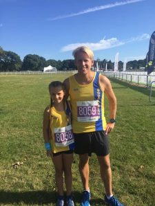 Isabel Cherrett and Phil Cherrett at the New Forest Marathon 5k