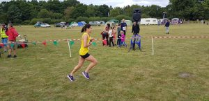Jo Dilling pushes on in the Lytchett Relays