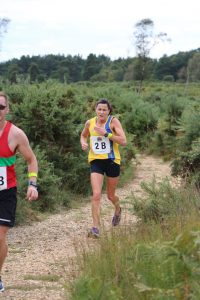 Jo Dilling in the Lytchett Relays