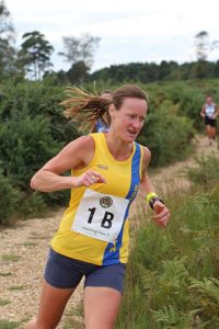 Joy Wright in action in the Lytchett Relays
