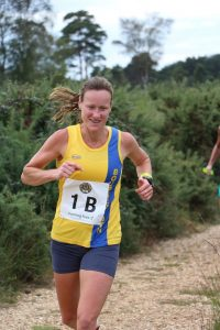 Joy Wright in the Lytchett Relays