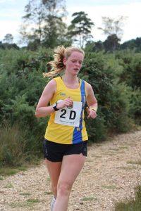Katrina White taking on the New Forest Half Marathon