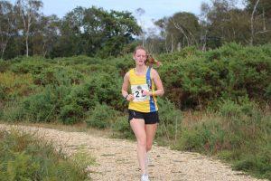 Katrina White in action in the New Forest Half Marathon