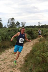 Pat Robbins in the Lytchett Relays