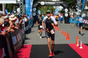 Paul Consani poweres on in the Ironman Vichy