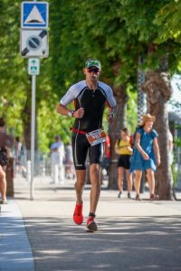 Paul Consani on his run in the Ironman Vichy