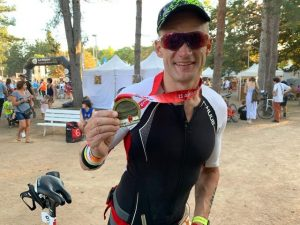 Paul Consani after completing the Ironman Vichy