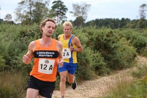 Phil Cherrett in full flow in the Lytchett Relays