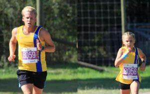 Phil Cherrett and Isabel Cherrett ran side by side in the New Forest Marathon 5k