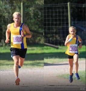 Phil Cherrett and Isabel Cherrett in the New Forest Marathon 5k