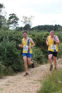 Steve Parsons and Mike White in the Lytchett Relays